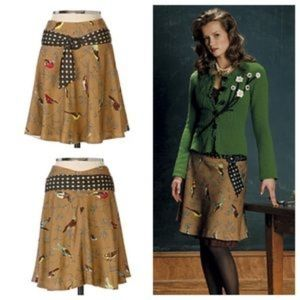 Anthropologie Elevenses Wool Finch Skirt
